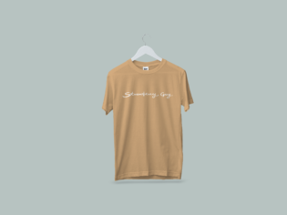 SG T-Shirt Mockup Old Gold